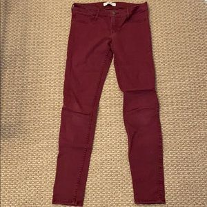 Hollister Burgundy Pants Sz 3